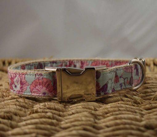 Hemp Dog Collar - Mint Poppy