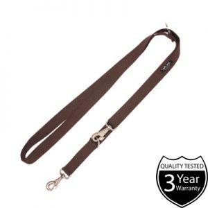 Ami Play Eco Cotton Adjustable Brown Dog Leash - 6 in 1 Dog Lead
